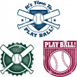 Vintage Style Baseball or Softball Stamps — Stock Vector