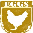 Vintage Fresh Eggs Crest — Stock Vector