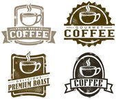 Vintage Style Coffee Stamps — Vettoriale Stock
