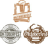 Oktoberfest Beer Stamps — Stock Vector