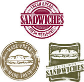 Vintage Style Sandwich Stamps — Stock Vector