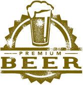 Timbro di birra premium vintage — Vettoriale Stock