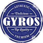 Vintage Greek Gyro Food Stamp — Stock Vector