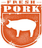 Vintage Style Pork Stamp — Stock Vector