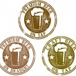 Premium Beer Stamps — Stockvectorbeeld