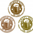 Premium Beer Stamps — Stock Vector