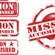 Stockvektor : Mission Accomplished Stamps