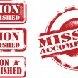 Stockvector : Mission Accomplished Stamps