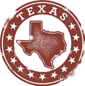 Sello de estilo clásico texas usa — Vector de stock