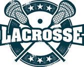 Vintage Lacrosse Sport Stamp — Stock Vector