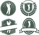 Vintage Style Golf Emblems — Stock Vector