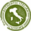 Authentic Italian Food — Stock Vector