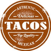 Authentic Mexican Tacos — Stock Vector