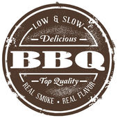 Vintage Style BBQ Stamp — Stock Vector