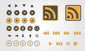 Set van multimedia pictogrammen — Stockvector