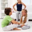Stock Photo: Quarreling and fighting kids