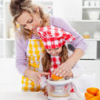 Educating children for a healthy diet and life — Stock Photo