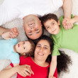 Royalty-Free Stock Photo: Happy family with two children