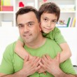 Father and his preschool boy — Stock Photo