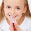 Girl receiving homeopathic medication — Stock Photo #12078240