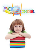 Child preparing for elementary school — Stock Photo