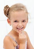 Diş perisi ile ilk karşılaşma — Stok fotoğraf