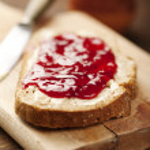 Jam on bread — Stock Photo #11902887