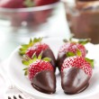 Chocolate dipped strawberries — Stock Photo #11921708