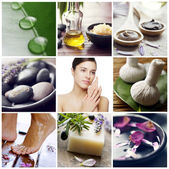 Wellness spa collage — Stock Photo
