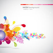 Abstract colored background with flowers — Stock Vector