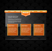 Website template with orange banner. — Stock Vector