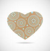 Adorno de flores en forma de corazón. — Vector de stock
