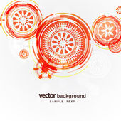 Abstract circles vector background — Stock Vector