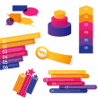Set of colorful labels. — Stock Vector