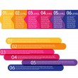 Set of colorful labels. - Stock Vector