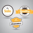 Set of colored badges with big sale sign. — Stock Vector