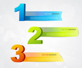 Banners with numbers and place for own text. — Stock Vector