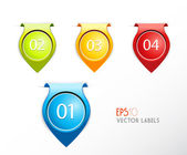Set of badges with numbering. — Stock Vector