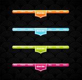 Twee stijlvolle website banner sjablonen. — Stockvector