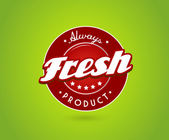 Tablero verde con signo de producto fresco. — Vector de stock