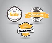 Conjunto de placas coloreadas con signo de gran venta. — Vector de stock