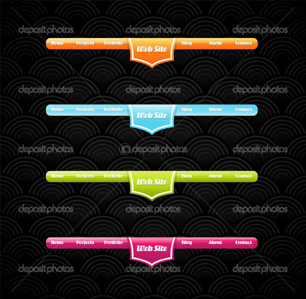 Two stylish website banner templates. — Stock Vector © kormi #11936980