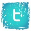 Vector de stock : Old twitter icon