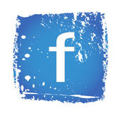 Antiguo icono de facebook — Vector de stock
