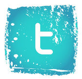 Antiguo icono de twitter — Vector de stock