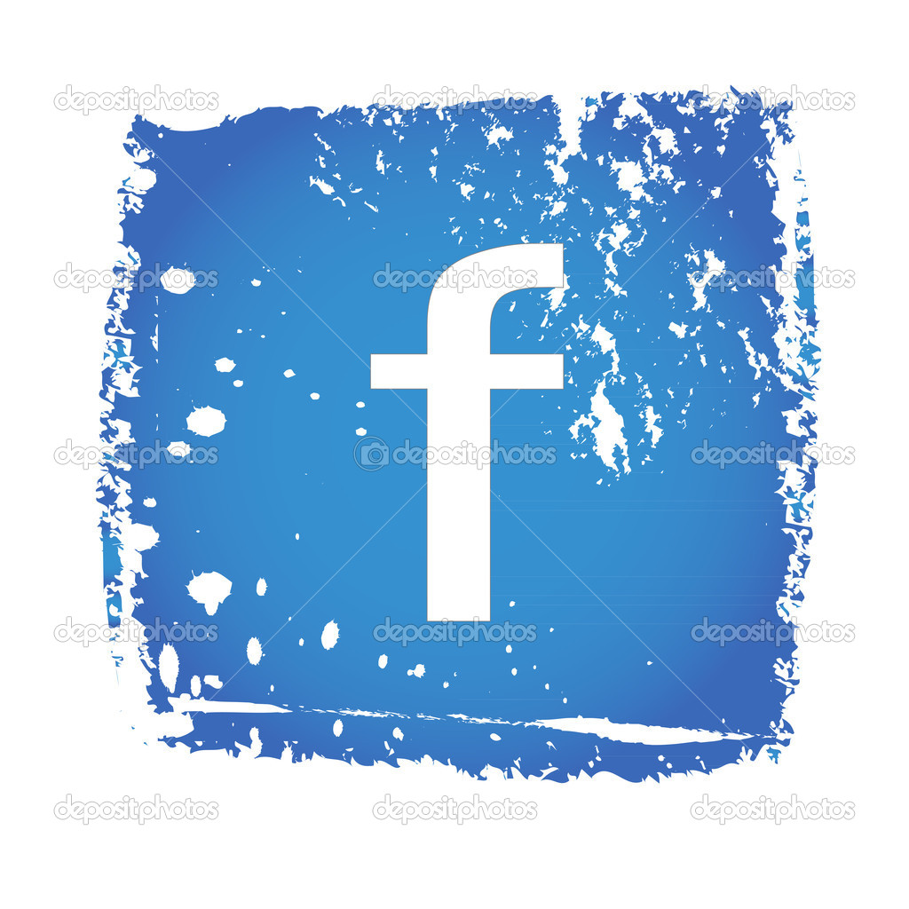 Old bluee facebook icon — Stock Vector #10866787