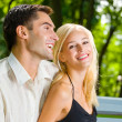 Happy couple together, outdoor — Stock Photo #10795326