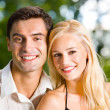 Happy couple together, outdoor — Stock Photo #10795348