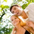 Happy couple together, outdoor — Stock Photo #10795418