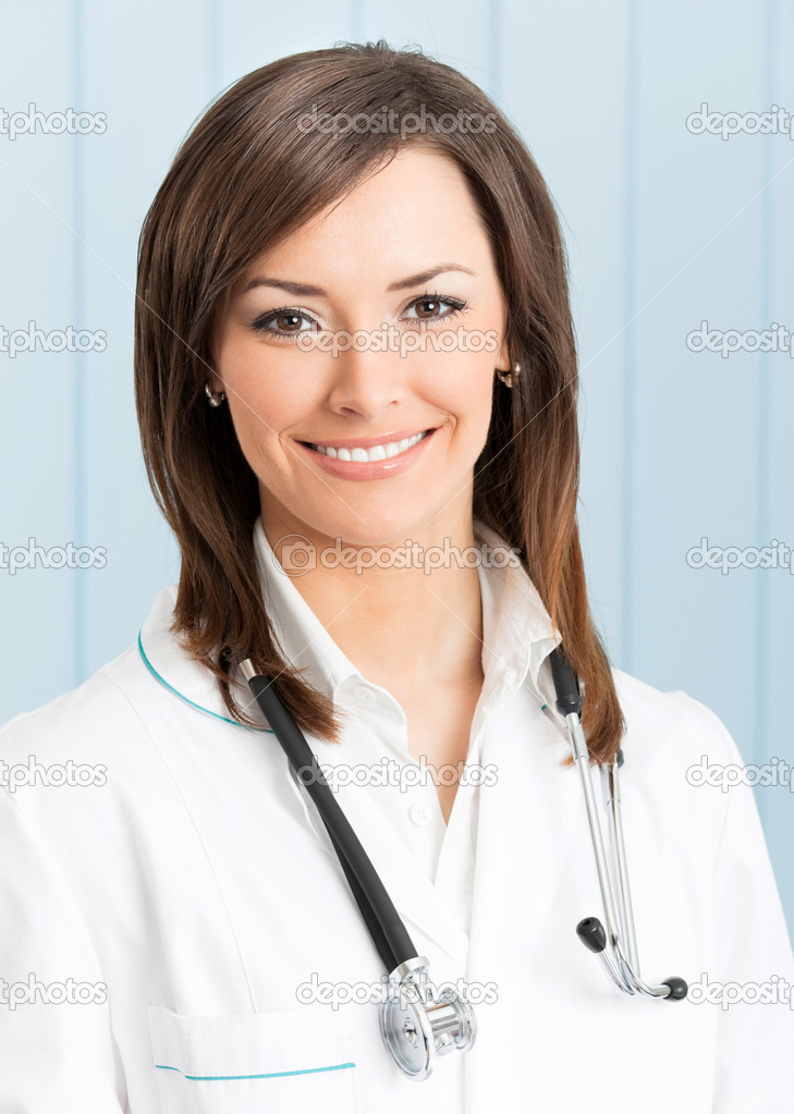 Portrait of happy smiling doctor at office  Stock Photo #10795758